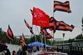 Прокремлевская акция у здания РБК. Фото: Леонид Павлюченко/Facebook