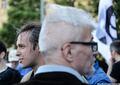 Разрешенный митинг на Триумфальной 31 мая 2014 года. Александр Аверин и Эдуард Лимонов. Фото Ники Максимюк/Грани.Ру