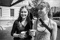 Жены политзеков Екатерина Миншарапова и Татьяна Полихович в Сахаровском центре 6 июля 2014 года. Фото Дениса Бочкарева