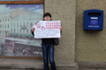 Пикеты в защиту Надежды Савченко в Санкт-Петербурге. Фото Вадима Лурье