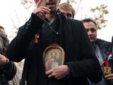 У Мосгорсуда в день кассации. Дмитрий Цорионов (Энтео). Фото Людмилы Барковой