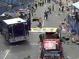 Взрыв в Бостоне. Кадр прямой трансляции CBS