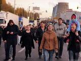 Бирюлевский погром: шествие к овощебазе. Фото Людмилы Барковой/Грани.Ру