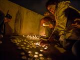 Акция памяти погибших в войне на Украине. Москва, 31 августа 2014 года. Фото: Денис Бочкарев